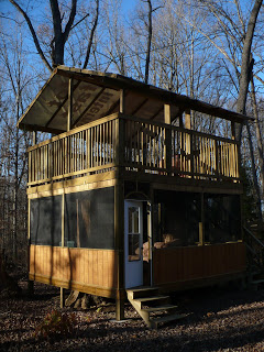 "The Love Shack ""tree house"" at Acorn - not quite a personal shelter"