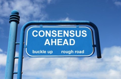 consensus road sign