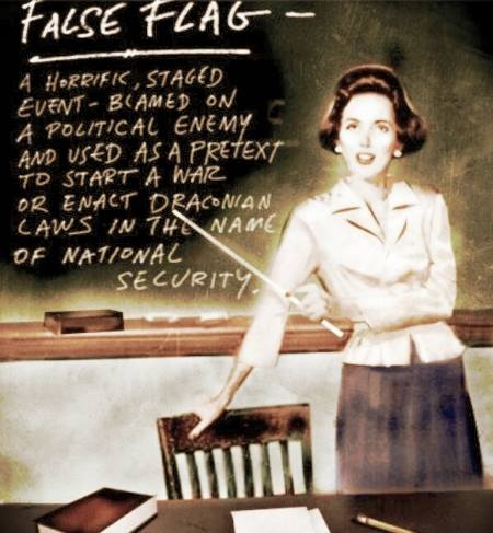 FALSE FLAG CHALK BOARD