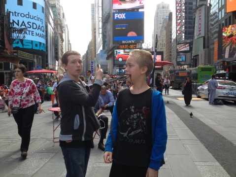 Willow and Evan in Time Square