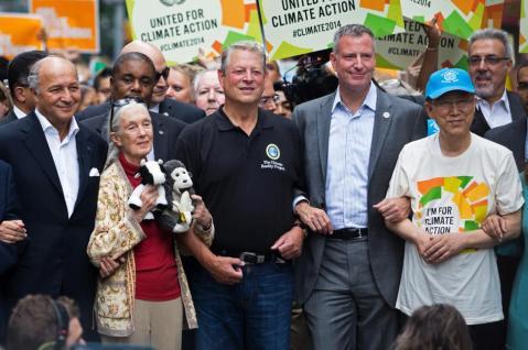 NYC Mayor De Blasio, some US political hack and the Sec Gen of the UN