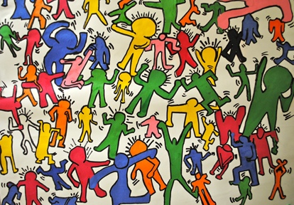 KeithHaringDanceParty5I