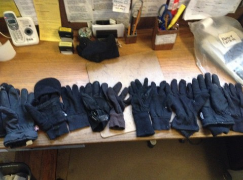 12 black gloves all different