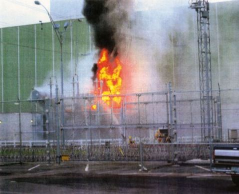 Just another day at the reactor - Vermont Yankee 2004 Transformer fire.