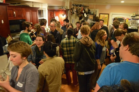 There were a lot of people richly chatting in the Keep kitchen