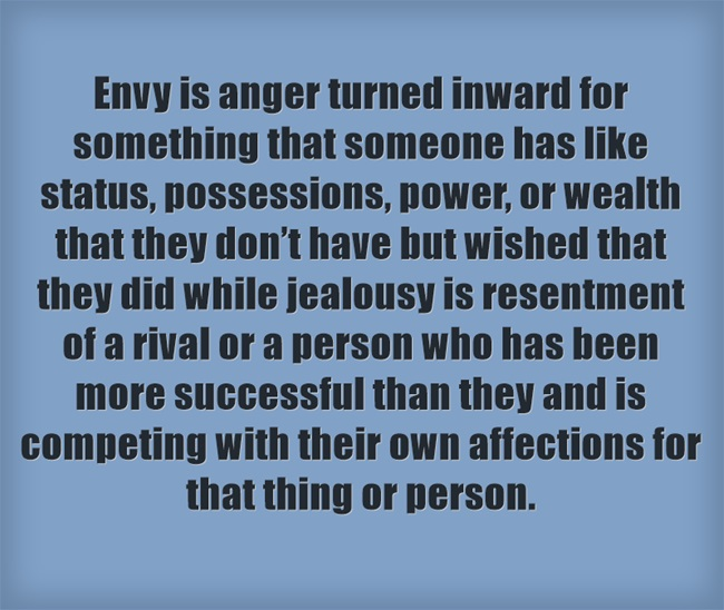 Envy not Jealousy  your passport to complaining