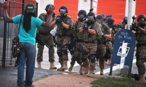 We ar ehappy to get ignored - Police in Ferguson 2014