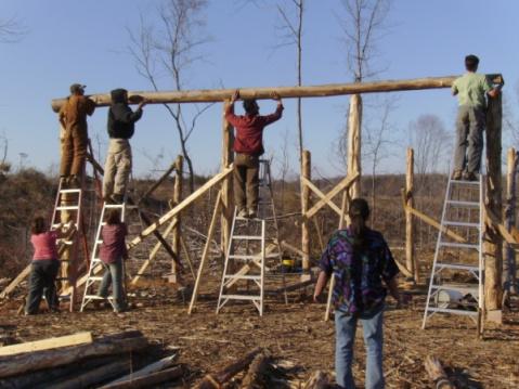 LEF Barn Raising - Circa 2013