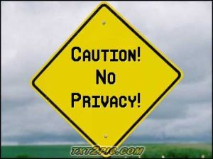 no privacy street sign