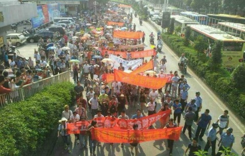 Successful Chinese anti-nuclear demonstration in Ghangdon - 2103