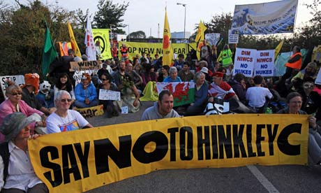 Hinkley has been the site of regular protests