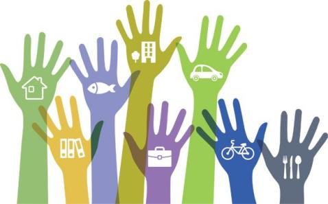 hands sharing