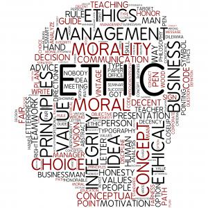 ethics words form a head