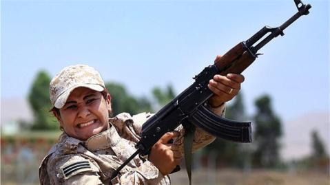 kurdish feminist fighters