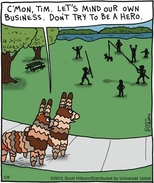 pinata bystanders