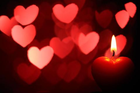 hearts and candles