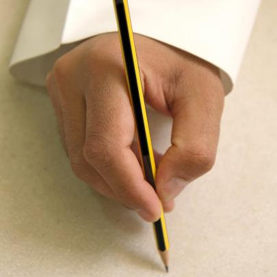 pencil to paper