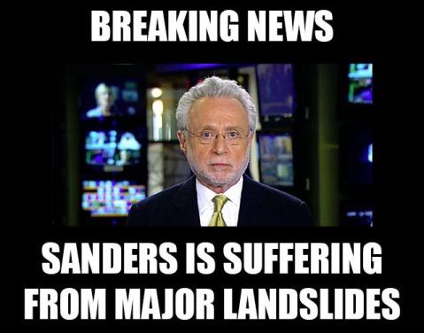 sanders landslides