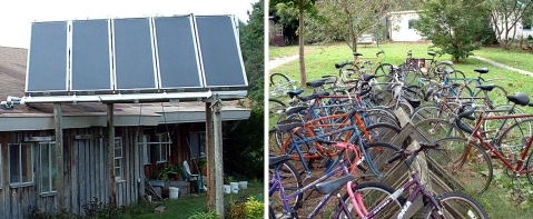 solar hot water and bikes