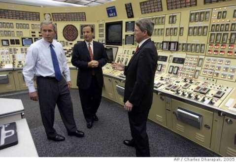 bush in control room