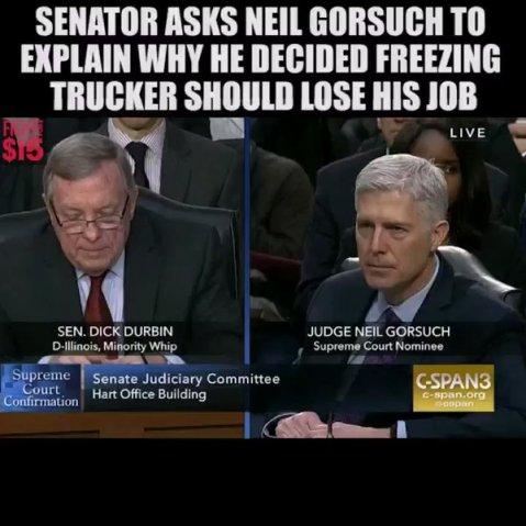 Gorsuch trucker