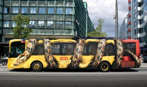 snake on bus