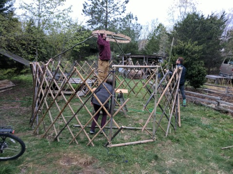 yurt under construction