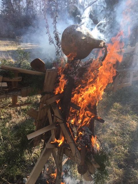 Burning efigy