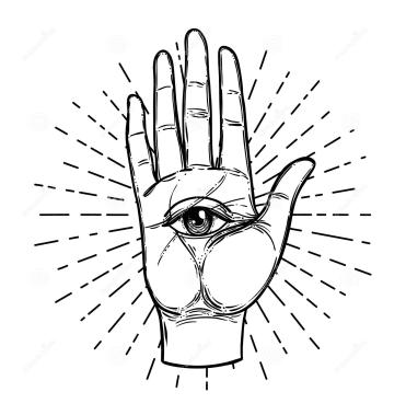 eye in hand minimal