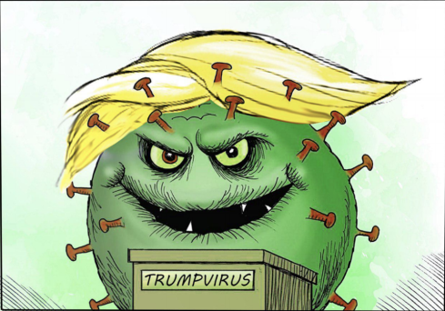 trump virus cartoon