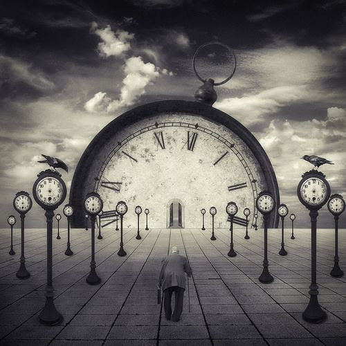 surreal clocks without hands